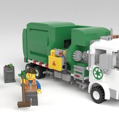 Rubbish Truck, Garbage Collection, Garbage Truck, Product Ideas, Lego Ideas, Lego City, Legos, Abandoned, Trucks
