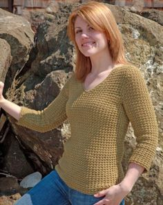 Savanna Crocheted Textured Boatneck