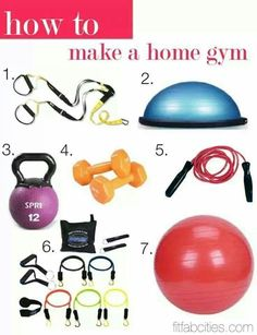 How to make a simple home gym! Love this!