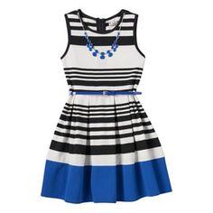 Girls 7-16 & Plus Size Knitworks Striped Skater Dress