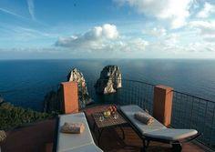 Hotel Punta Tragara, terrace