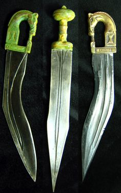 IBERIA. (Pre-Roman Spain) - los celtiberos / Numancia / Spain.. The falcata is a type of sword typical of the pre-Roman Iberian Peninsula (modern Spain and Portugal). The falcata was used to great effect by the armies of Carthage in their wars against Rome. Roman armies in the Second Punic War and later, during the Conquest of Hispania, were surprised by the quality of these weapons, used by Iberian mercenaries and warriors.