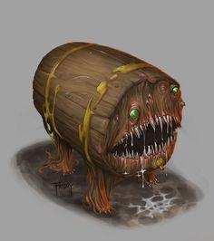 Dnd Mimic by GraphicGeek monster beast creature animal Fantasy Monster, Monster Art, Fantasy Rpg, Dark Fantasy, Beast Creature, Dnd Monsters, Scary Monsters, Arte Cyberpunk, Pathfinder Rpg