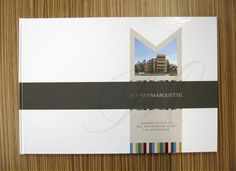 Brochure design with hardcover for 'Hof van Marquette', a new residential project in Heemskerk, Holland.