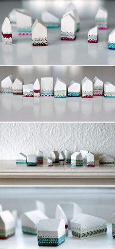 Make a Hand-Painted Village of Miniature Houses
