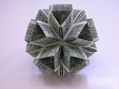 Improving Upon Office Environment Air Excellent With Indoor Crops - Superior For Business Dollar Money Origami Icosahedron Origami Gifts, Money Origami, Paper Crafts Origami, Scrapbook Paper Crafts, Paper Oragami, Money Lei, Origami Boxes, Paper Crafting, Origami Ball