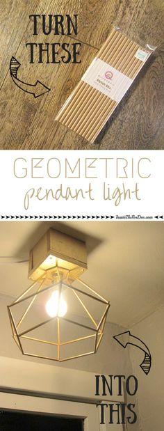 Geometric Pendant Light   Inside the Fox Den
