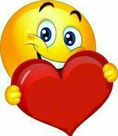 by Florynda del Sol ღ☀¨✿ ¸.ღ emoji heart Animated Smiley Faces, Funny Emoji Faces, Animated Emoticons, Funny Emoticons, Smiley Emoji, Kiss Emoji, Love Smiley, Emoji Love, Love You Gif
