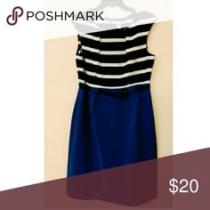 Striped Dress Reposh dress brand new I or the seller never worn I tried it on fits like a size 12 not a 14 Dresses Midi