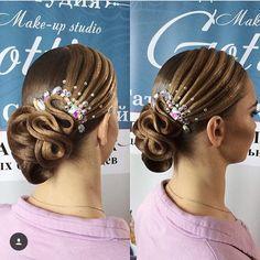 "94 Likes, 1 Comments - Санкт-Петербург,Россия (@beauty_studio_gottin) on Instagram: ""#hair #hairstyle #танцевальнаяприческа #танцевальныймакияж #dance #image #studio #gottin #makeup…"""