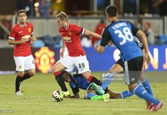 James Wilson of Manchester United in action