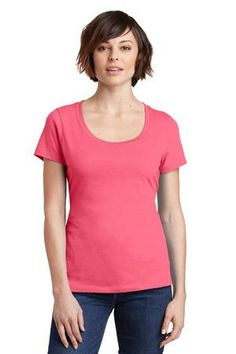 Welcome to the TMD Outlet Store, NEW District Made® Ladies Perfect Weight® Scoop Tee. DM106L