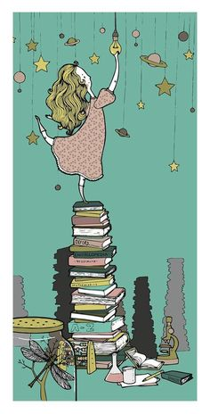 books-the gateway to the exploration of so many other worlds-teach your children to read and you give them the world and beyond. I Love Books, Books To Read, My Books, Reading Art, World Of Books, Book Images, Illustrations, Library Books, Cute Illustration