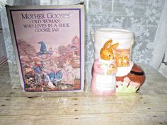 "Shafford Mother Goose Woman In A Shoe Ceramic Cookie Jar 10"" x 9"" x 8"" #Shafford"