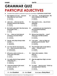 English Grammar Participle Adjectives www.allthingsgrammar.com/participle-adjectives--ed-vs--ing.html