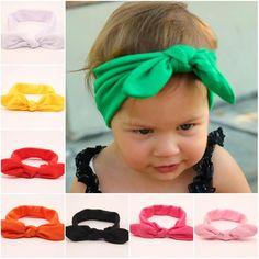 Lovely Classic Baby Girls Big Hair Bows Rabbit Ear Hair Clips-Baby Girl Gift Set