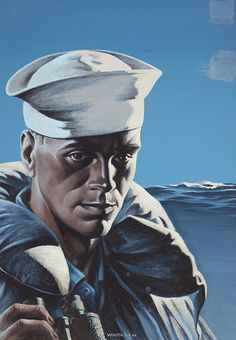 Sailor, War Fund poster illustration, 1944 Gouache on board 28 x 20 in. by John Franklin Whitman Jr. (American, b. 1896)