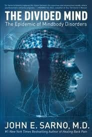 Book: The Divided Mind - the epidemic of mindbody disorders. Intro and first chapter available on Amazon's e-reader, which gives you a good idea of psychosomatic medicine and the division between the conscious and unconscious mind.