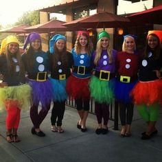 The 7 dwarfs - 100 Winning Group Halloween Costume Ideas via Brit + Co.