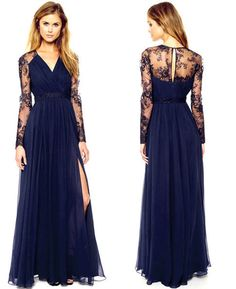 Hot! Sexy Lace Floral Chiffon Boho Long Maxi Casual Party Cocktail Evening Dress