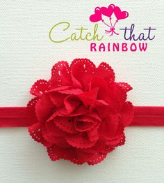 SALE Red Baby headband red baby girl headband by catchthatrainbow