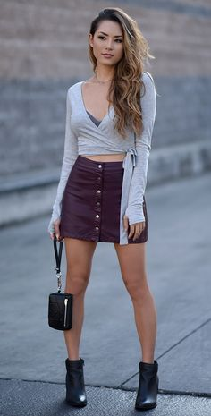 That leather skirt tho.
