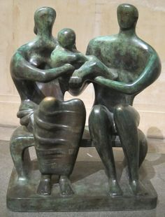 henry moore - 'Family Group', bronze sculpture by Henry Moore, 1949, Tate