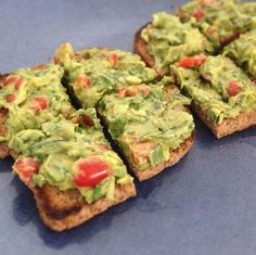 Just add Avocado to your Ezekiel Bread for instant happiness. Yum!