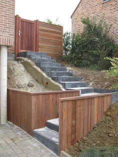 escalier jardin extérieur | ... êtes ici: Accueil » Aménagement extérieur – Escalier et entrée