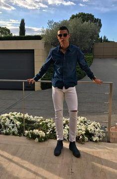 Cristiano Ronaldo rocks his jeans collection