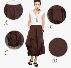 brown skirts for women by YL1dress on Etsy