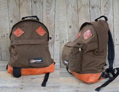 Vintage 80's USA Eastpack Brown Cordura and by RoslynVTGTradingCo, $68.00