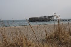Cloudy day on the sand beach of Katsrup Sea Baths (Kastrup Søbad) by Copenhagen, Denmark.