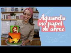PINTURA EM BOLO: EFEITO AQUARELA EM PAPEL DE ARROZ - YouTube Bolo Youtube, Theme Cakes, Sweet Pastries, Paint Effects, Arroz Con Leche, Party Candy, Pen And Wash, Mulches, Decorating Cakes