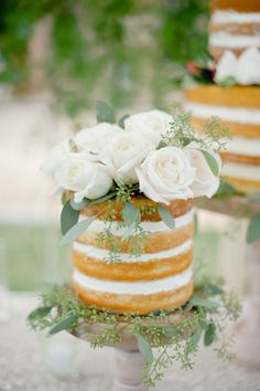 Small naked cake: http://www.stylemepretty.com/2015/01/29/something-blue-fall-winery-wedding/ | Photography: Megan Welker - http://www.meganwelker.com/