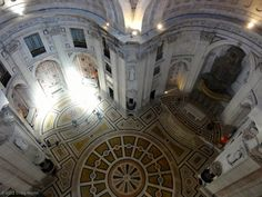 Interior view from the top of the National Pantheon, Lisbon, Portugal