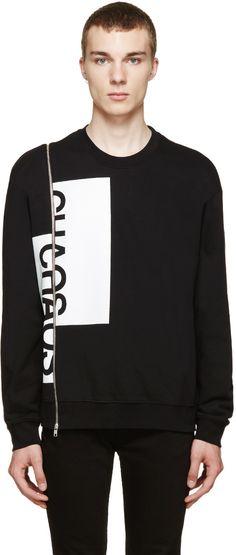 McQ Alexander Mcqueen - Black Chaos Zip Sweater