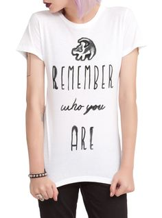 Disney The Lion King Remember Who You Are Girls T-Shirt | Hot Topic