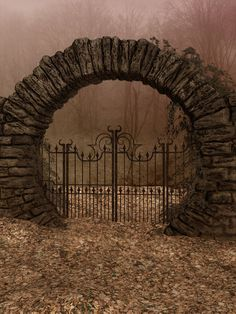 UNRESTRICTED - Autumn Gate Background by frozenstocks on DeviantArt MZLoweRPP verified link on Source: frozenstocks. Artist: Andreea C Artist's Title: Autumn Gate Background Architecture Art Nouveau, Moon Gate, Garden Gates, Doorway, Abandoned Places, Belle Photo, Arches, Beautiful Places, Scenery