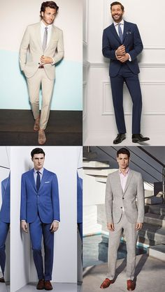 Men's Two-Piece Suits Spring/Summer Wedding Guest Outfit Inspiration