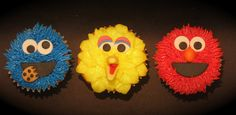 Sesame Street cupcakes by two parts sugar, via Flickr