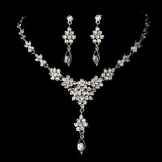 Sparkling Crystal Wedding or Prom Jewelry Set