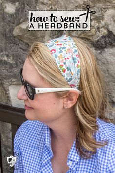 A free sewing tutorial for these cute DIY Headbands made from Liberty of London fabric, learn how to sew a simple headband, polkadot chair