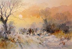Landscape Drawings, Watercolor Landscape, Watercolor Print, Watercolour Painting, Landscape Art, Watercolours, Art Pictures, Photos, Art Pics