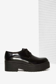Jeffrey Campbell Cedric Leather Platform Shoe