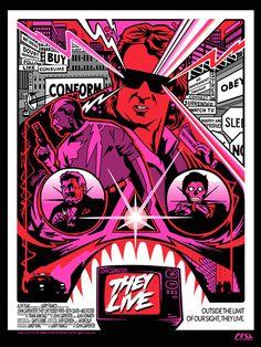 Alternative movie poster for They Live by Jeremy Wheeler