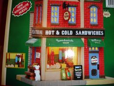 Christmas Village LEMAX DELICATESSEN Sandwich DELI LIGHTED BUILDING SHOP NEW!
