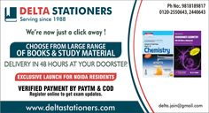 We're now just a click away! Choose from large range of #books & #studymaterial Delivery in 48 hours at your doorstep #CashOnDelivery #ResonablePrice Contact us : Mobile no.: +91-9818189817 Email id- delta.jain@gmail.com http://www.deltastationers.com/