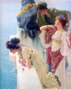 A Coign of Vantage  by Sir Lawrence Alma-Tadema (ARC)