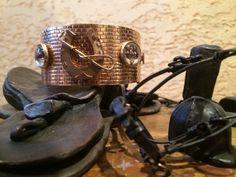 equestrian gold bangle